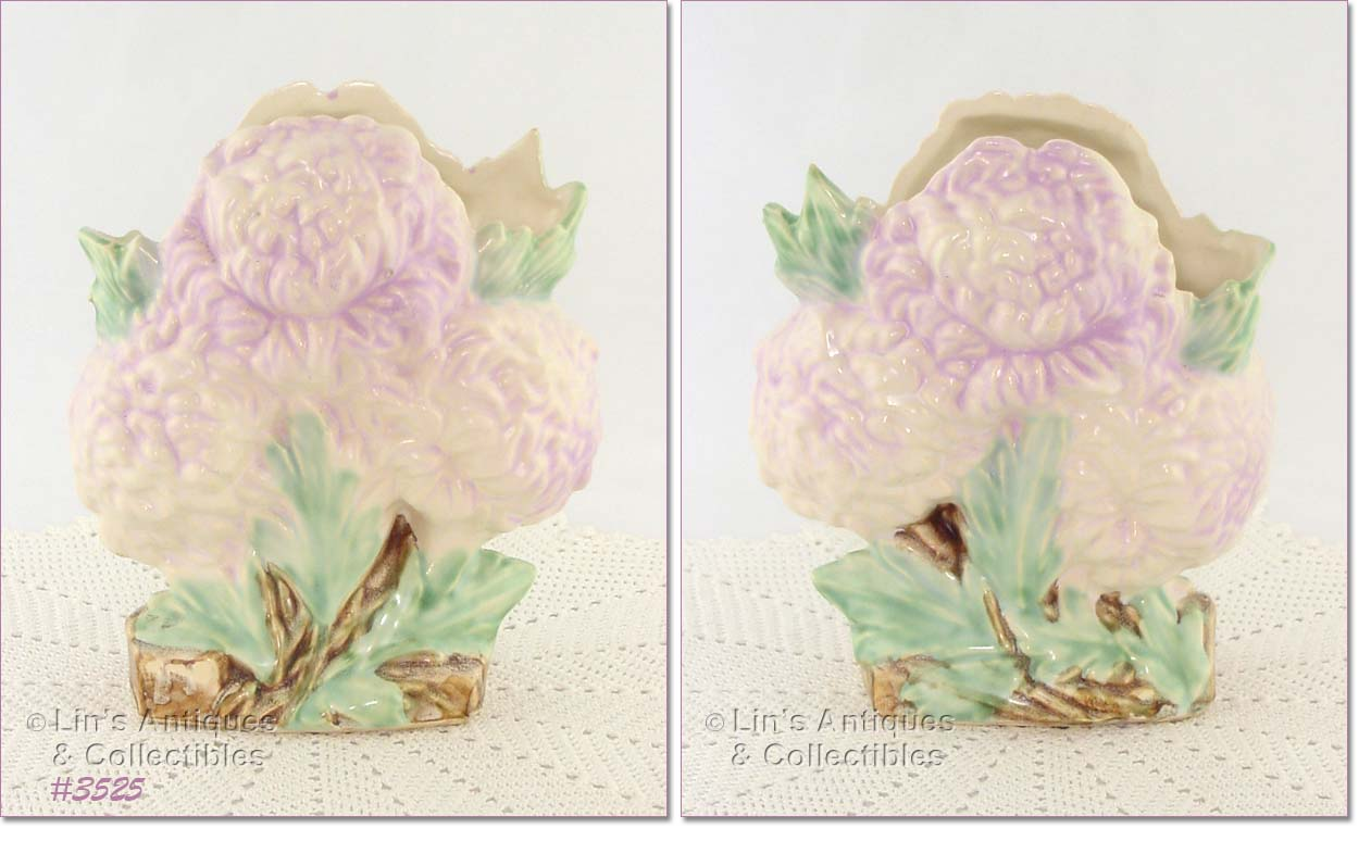 Flower forms excellent condition mccoy flower form vase this is the chrysanthemum vase and it has beautiful color please see photos bottom is marked mccoy vase is reviewsmspy