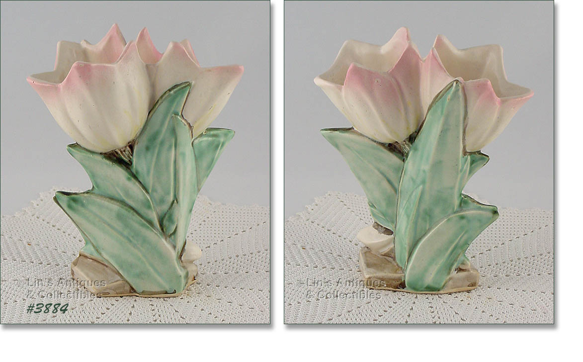 Flower forms vase measures 8 tall at tallest bottom is marked mccoy made in usa and its in super condition reviewsmspy