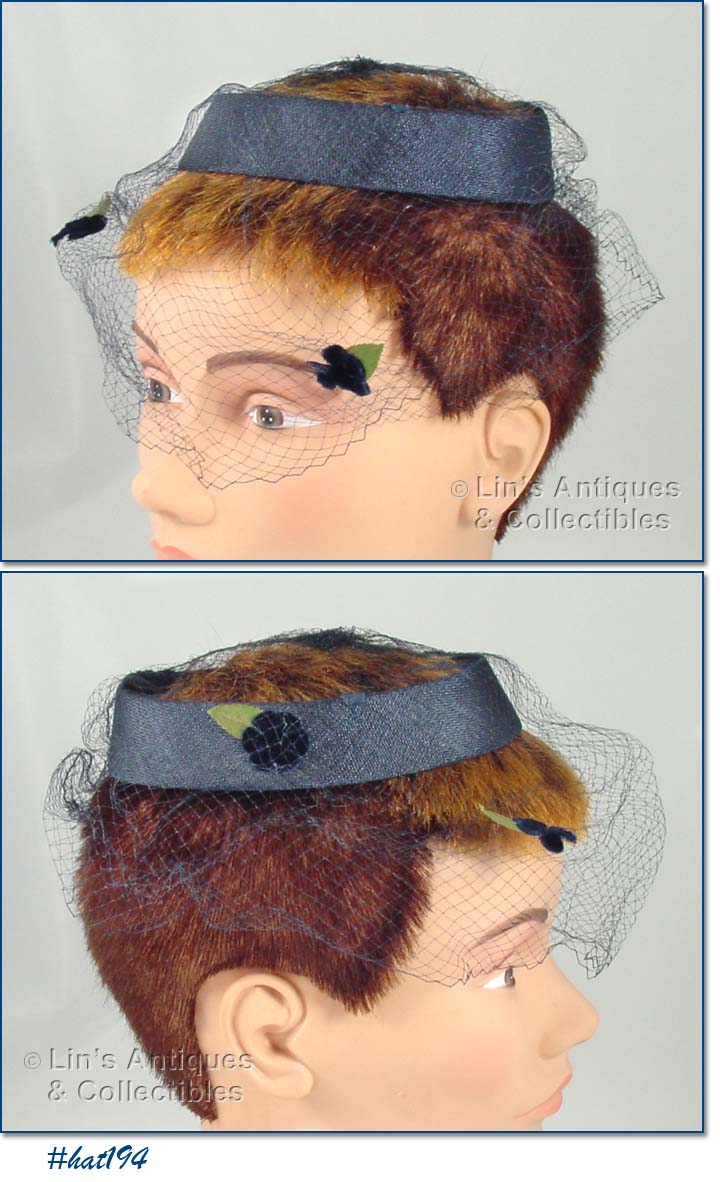 Retro hat styles with facial nets