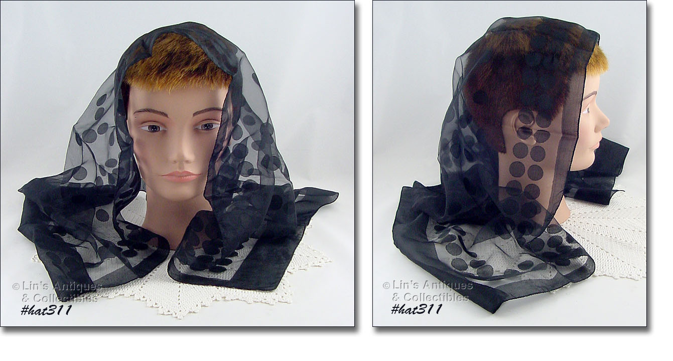 1a2e2f27944a THIS BLACK SCARF (AND OUR HAT#312) WAS PURCHASED AT THE SAME ESTATE SALE AS  THE OTHER CHAPEL SCARVES I HAVE JUST LISTED. IT IS SUITABLE AS A CHAPEL  SCARF ...