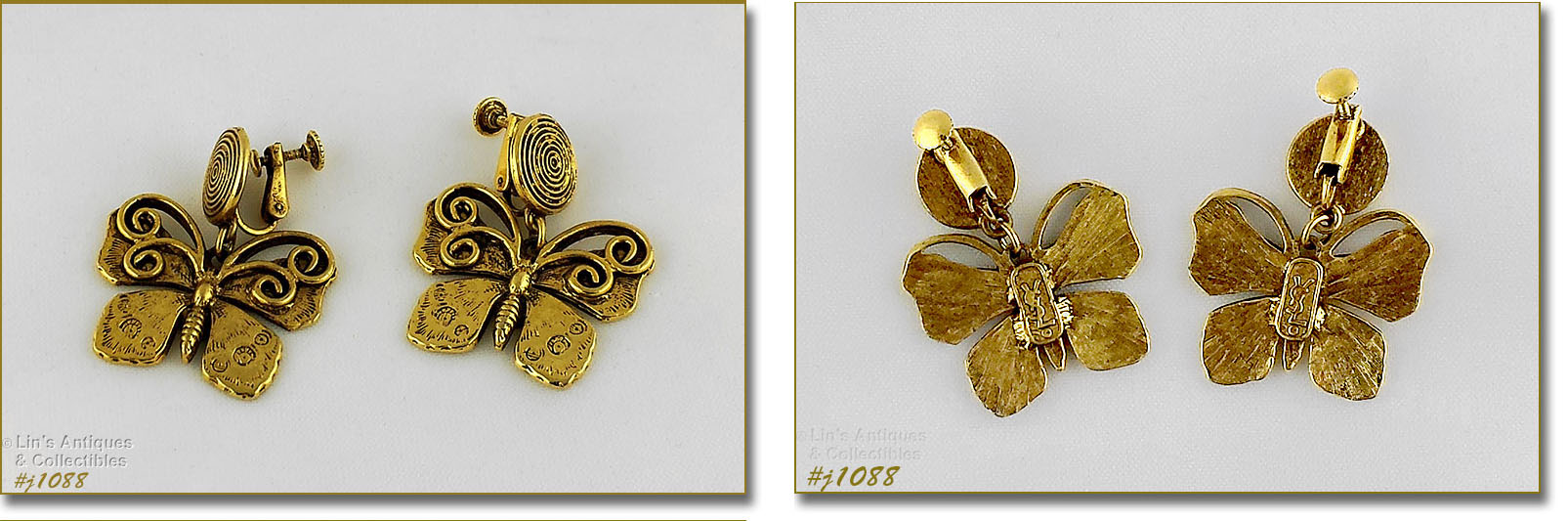 b6b4a311196 THIS LISTING HAS YVES SAINT LAURENT VINTAGE EARRINGS! THEY'RE GOLD-TONE AND  MEASURE 1 1/2