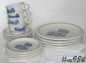 SUPER NICE PFALTZGRAFF DINNERWARE IN THE YORKTOWNE PATTERN! THERE ARE 4 EACH DINNER PLATES BREAD/DESSERT PLATES SAUCERS CUPS. & page 6